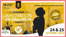 Les ateliers de la plume au congrès de l'innovation en éducation à Paris octobre 2020
